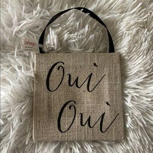"""Oui Oui"" Hanging Sign"